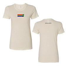 Ladies Next Level Cotton Short Sleeve Boyfriend Crew T-Shirt - Pride