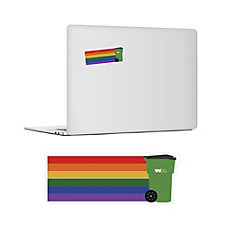 Rainbow Toter Sticker - 4 in. x 1.5 in. - (1PC) - Pride